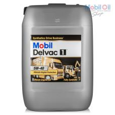 Масло для грузового коммерческого транспорта Mobil Delvac 1 SHC 5W40 20л